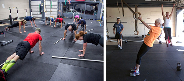 crossfit classes in action